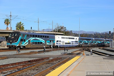 Metrolink Cab Car 655 arrives into Los Angeles Union  02/02/15