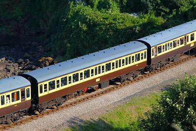 59003 - Class 116 Trailer Standard passes Waterside Caravan Park on the Paignton & Dartmouth Steam Railway 01/09/12
