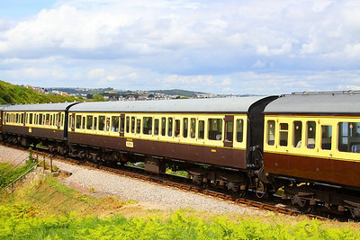 59004 - Class 116 Trailer Standard passes Waterside Caravan Park on the Paignton & Dartmouth Steam Railway 30/07/12