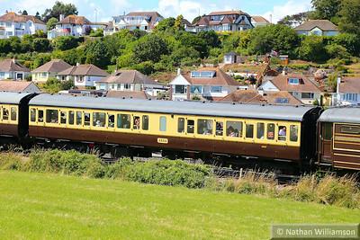 59507 - Class 117 Trailer Composite Lavatory passes Broadsands on the Paignton & Dartmouth Steam Railway  03/08/14