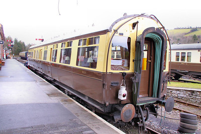9005 - GWR Special Saloon built in 1937 stands in Buckfastleigh 28/02/10