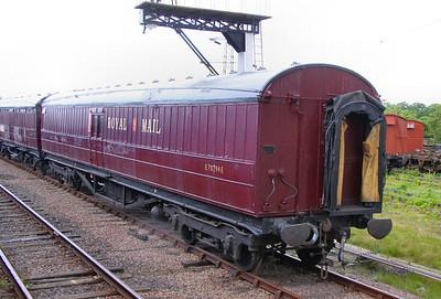 70294, LNER Post Office Sorting Van, built in 1937 on the Great Central Railway 14/05/11