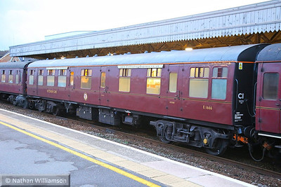 """Mk1 RBR 1666 calls at Taunton on the: 1Z24 17:11 Kingswear to Staines """"The Cathedrals Express""""  17/09/13"""