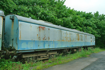 Mk1 Bullion Van No 99200 at Cranmore on the East Somerset Railway. 99200 was conveted from Mk1 BSK 35020 21/06/11