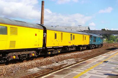 6263 - Mk1 Generator Van heads west through Totnes 08/06/11  6263 was converted from Mk BG 81231 / 92061 / 92961