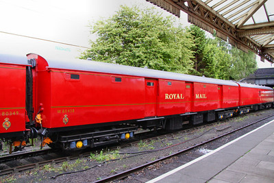 Mk1 NTA 80438, Post Office Stowage Van at Loughborough on the Great Central Railway. The vehicle has been restored to Royal Mail 1960's Red. 14/05/11