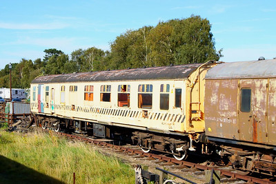 Mk1 BCK 21202 was converted into 977107 - Brakedown Train Staff Coach  977107 is stored at Quorn & Woodhouse on the Great Central Railway 08/09/12