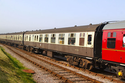 Mk1 BSO 9380 arrives into Blue Anchor on the West Somerset Railway  24/03/12