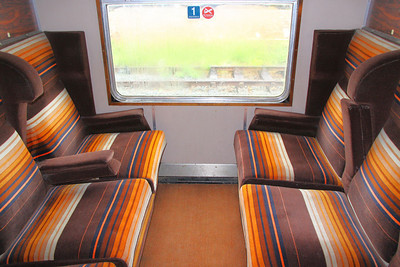 Interior of Mk1 CK 16190's First Class Compartment, based on the Great Central Railway (North) 15/05/11
