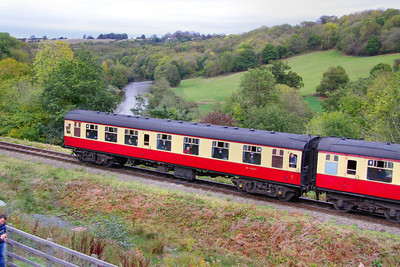 Mk1 CK 16267 departs Highley on the Severn Valley Railway 08/10/11