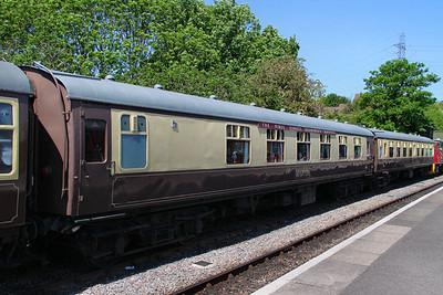 Mk1 CK 13231 in Bitton - part of the Avon Valley Railway Dining Train 26/05/12  Note - interior has been rebuild as an saloon dining saloon with non-fixed chairs