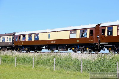 "Mk1 RMB 1804 arrives into Blue Anchor, part of the West Somerset Railways ""Quantock Belle"" dining set  07/06/15"