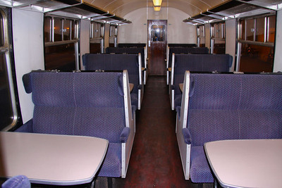 18806 - Interior of Mk1 SK  (Carries TOPS Number 99722) 17/10/09  SK 18806 was converted into a TSO by WCRC using parts from TSO 4936