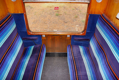 Interior of Mk1 SK 25341 based on the Gloucestershire & Warwickshire Railway 25/10/09