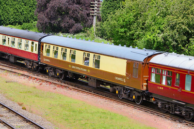 """Mk1 SK 25788 has been converted into a Saloon, for use on the Great Central Railway's """"Cromwell Pullman"""" dining set and numebred 1898. The interior has been gutted and a new open layout with sideways facing sofa's installed. 1898 is seen arriving into Quorn & Woodhouse 14/05/11"""