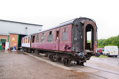 Mk1 TSO 4207 under restoration at Ruddington on the Great Central Railway (North) 15/05/11