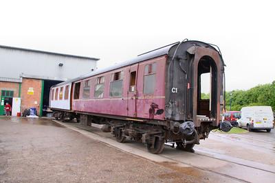 Mk1 TSO 4207 under restoration at Ruddington on the Great Central Railway (North) 15/05/11