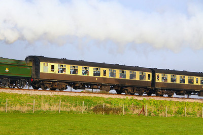Mk1 TSO 5002 at Blue Anchor on the West Somerset Railway  24/03/12