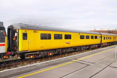 977869 - Network Rail Radio Survey Coach stables in Bristol Temple Meads 11/02/10  977869 was converted from Mk2e TSO 5858