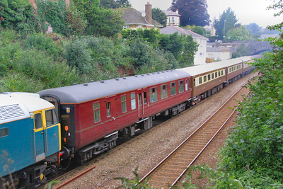 Mk2a BFK 17056 heads north through Torquay 26/08/10  17056 is in operation with Riviera Trains