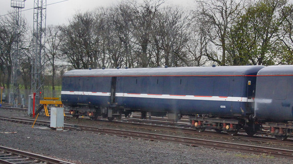 Mk2a BSO 9432 was converted into Mk4 barrier coach No 6358. 6358 is captured in Craigentinny  20/04/12
