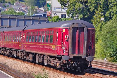 Mk2b TSO 5478 heads west through Totnes 26/06/10