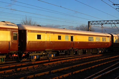 Mk2d BFK 17167 departs Carlisle on the: 1Z17 11:42 Darlington to Newcastle  05/12/12