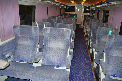 Interior of Mk2e BUO 9800 with seating for overnight travel 10/07/09