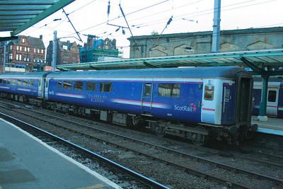 Mk2e BUO 9809 departs Carlisle  11/07/09  9809 was converted from Mk2e TSO 5890