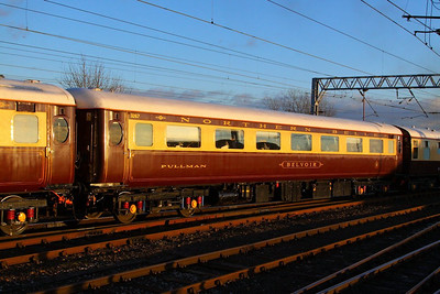 "Mk2e FO 3267 ""Belvoir"" departs Carlisle on the: 1Z17 11:42 Darlington to Newcastle  05/12/12"