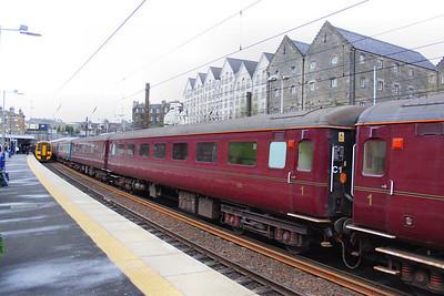 Mk2f FO 3292 departs Haymarket on Scotrail's 2L61 17:24 Edinburgh to Cardenden.  16/04/12
