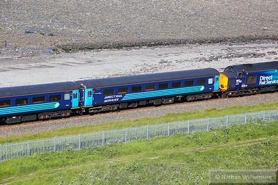Mk2f TSO 6008 arrives into Harrington 09/06/15
