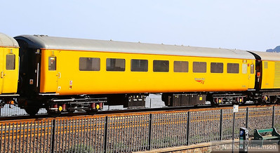 Mk2f TSO 6019 was converted into which was converted into a Class 488/2 EMU No 72715. This was then converted into the Structure Gauging Train Coach 2, seen at Dawlish  16/07/13