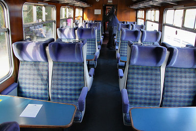 Interior of Mk2z TSO 5198 in operation with Vintage Trains 26/09/10