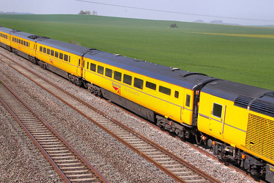 975984 - New Measurement Train Lecture Coach heads west through Cholsey 23/04/10  975984 was converted from Prototype HST Trailer Unclassified Buffet No 40000