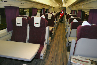 Interior of Mk3 TCC 45001 in the First Class area 13/10/08