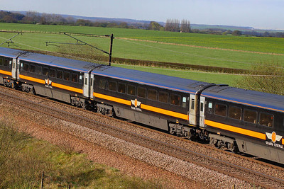 42409 heads north through Colton Junction 05/04/12  42409 was converted from Loco-Hauled Mk3a TSO 12088 for Grand Central