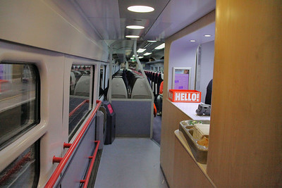 Interior of 40107 showing the 6 seats removed for the microbuffet 15/12/09