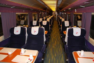 Mk3a FO 11007 - Interior of 'Pretendolino' refurbished to Virgin Trains standards 21/0/211
