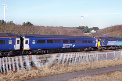 Mk3a FO 11030 passes Northside near Workington 02/03/10