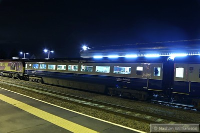 Mk3a FO 11031 calls at Princes Risborough on: 1U61 17:50 Marylebone to Banbury 17/11/14  11031 has been fitted with standard class seating but has not been renumbered into the standard class 12xxx series