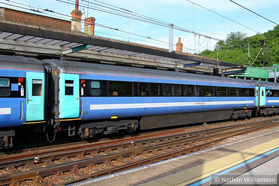 Mk3a TSO 12010 was converted into Mk3a RMB 10402.  10402 departs Ipswich 03/06/13