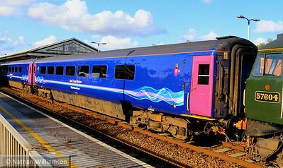 Mk3b BFO 17173 departs Newton Abbot on the: 2C51 17:50 Exeter St Davids to Penzance  02/08/14