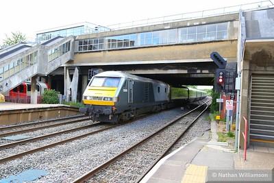 82305 heads east through West Ruislip leading: 1H69 15:55 Birmingham Moor Street to Marylebone 26/05/15  82305 was converted from 82134