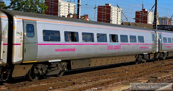 Mk4 TSO 12417 heads south through Doncaster 18/06/14
