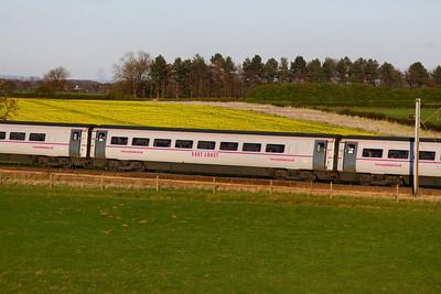 Mk4 TSO 12411 heads north through Colton Junction 05/04/12