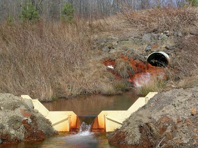 Colbert Mine Breach- This and Site 19 combine to form Quaker Run.