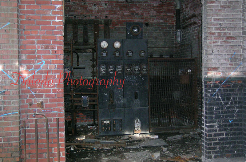 Electrical room before it was torn down in 2006.