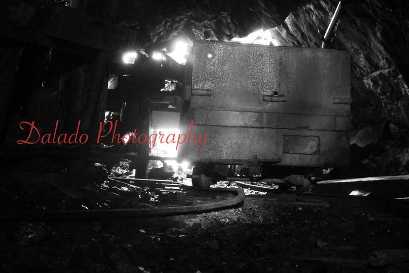 A mine car inside the drift.