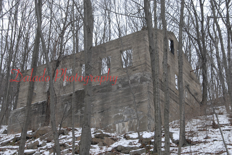 Remnants of a building north of St. Clair.